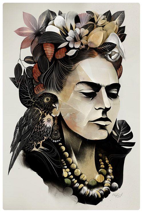 Иллюстрации Алексея Курбатова. Портрет Фриды Кало