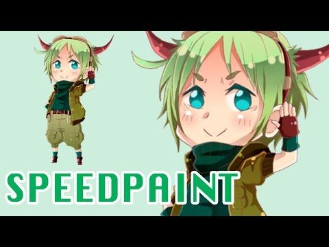 First drawing with my new tablet [Wacom Intuos-Speedpaint-Gimp] - YouTube