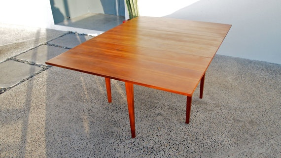 Reserrved For Lori Rosewood Folding Dining Table Vintage