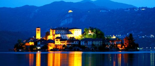 Lake Orta   The Island of San Giulio    Set in the middle of Lake Orta and dominated by its thirteenth century basilica and convent.    The place to begin though is Orta San Giulio on the shores of the lake. A charming car-free town and not at all touristy.