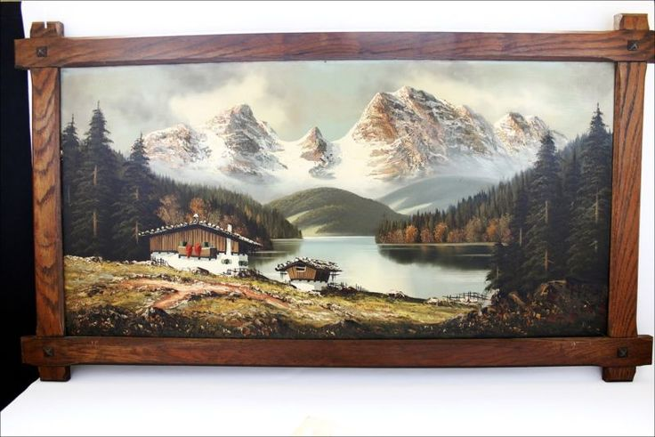 Large Vintage German Artist A. Franke Oil Painting ...