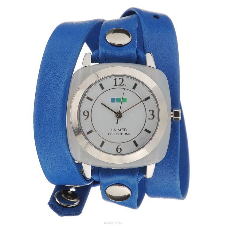 Часы наручные женские La Mer Collections Stone Acetate Moonstone Blue Silver. LMACETATE008