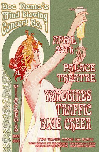 Yardbirds / Traffic / Blue Cheer 1967 by ClevelandRockAndRoll, $15.00