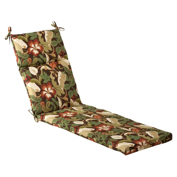 Tropical Outdoor Chaise Lounge Cushion