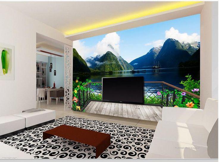 Дешевое Бесплатная доставка современные стены 3D фрески обои, HD красивые пейзажи 3D росписи для тв диван фоне стены papel де parede, Купить Качество Обои непосредственно из китайских фирмах-поставщиках:                                                     Примечание: