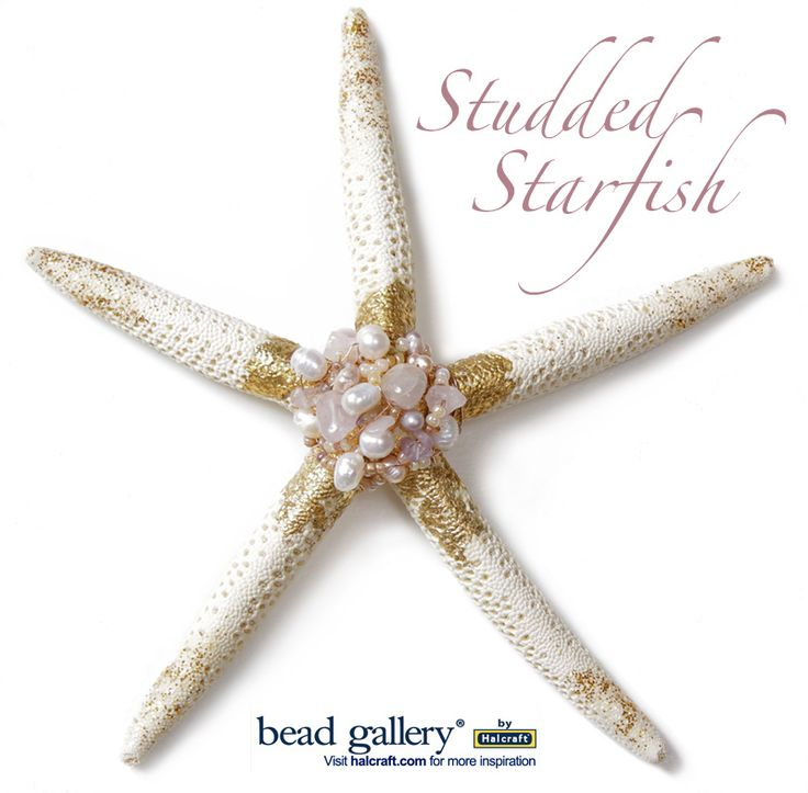 Studded Starfish ornament or home decor by Erin Strother featuring Bead Gallery beads available at @michaelsstores