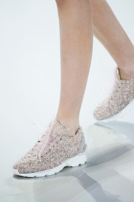 Chanel Spring 2014 Couture - Trainers which sparkle, now that would make gym more fun! Yes please!