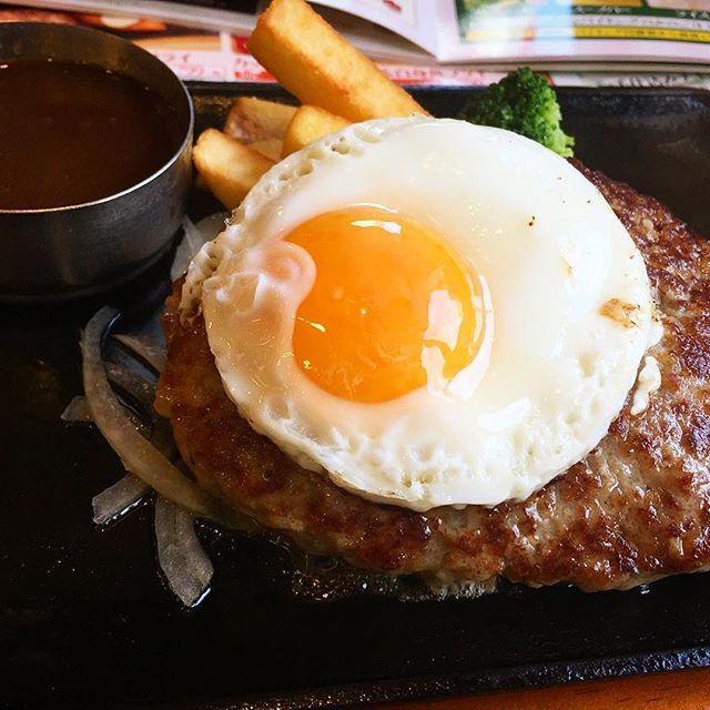 昨日のたんぱく質🍖15年ぶりのBigBoy✌️ サラダバイキングで野菜1年分食べた✨  #ビックボーイ#肉#ハンバーグ#ファミレス#タンパク質#ライス無し