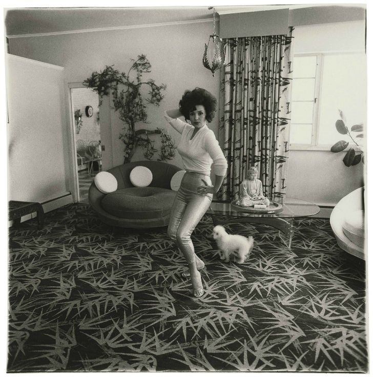 """steroge: """"Blaze Starr in her living room, Baltimore, Md., 1964 by Diane Arbus """""""