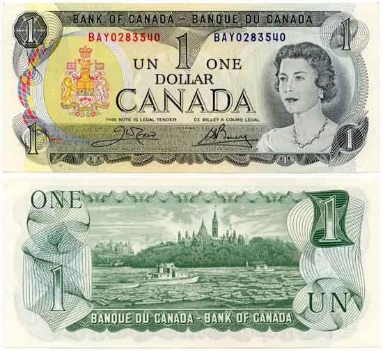 Canada 1 Dollar 1973 #Canada #banknotes #papermoney