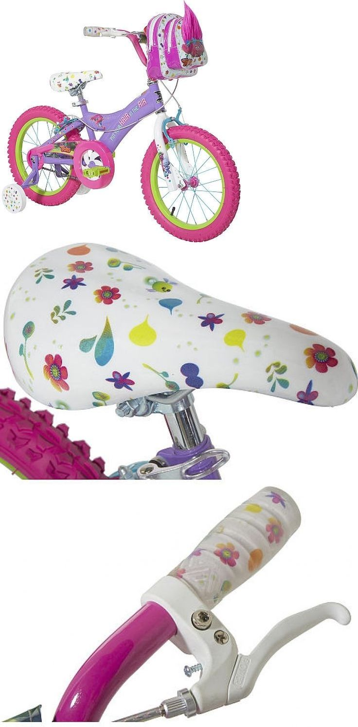 Bicycles 177831: Girls 16 Inch Dreamworks Trolls Bike With Troll Handlebar Bag And Training -> BUY IT NOW ONLY: $125.99 on eBay!