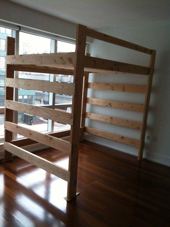 Loft Frame Bed Queen Size Loft Beds Pinterest