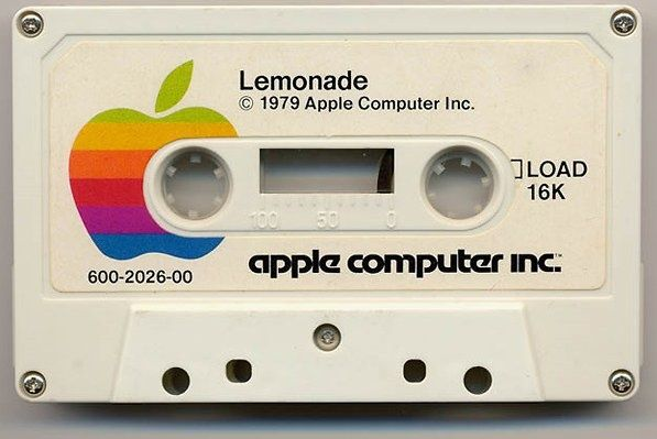 In 1979, Apple II games were distributed on cassette tapes.