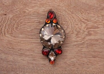 Fire eyed crystal brooch pin# shop online.