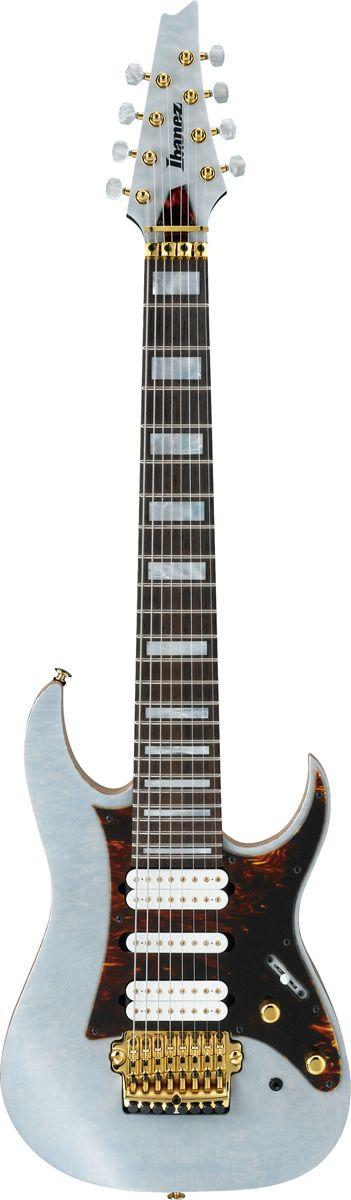 IBANEZ Tam100 white tosin abasi - Guitares électriques - 8 Cordes et plus | Woodbrass.com
