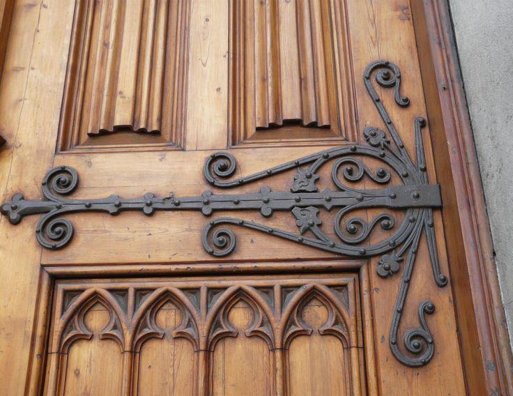 Ronda Door hinge spreaded all over the door & 31 best Hinges for Doors \u0026 Gates images on Pinterest   Iron Barn ...
