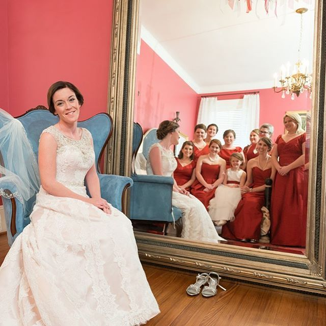Can't wait to share more from this December wedding! #Weddingphotography #Weddingphotographer #Beautiful #Photo  #southern bride #Portrait #bridalparty #Weddingdress #Composition #mirror #reflection #winterwedding @Rosewood Manor