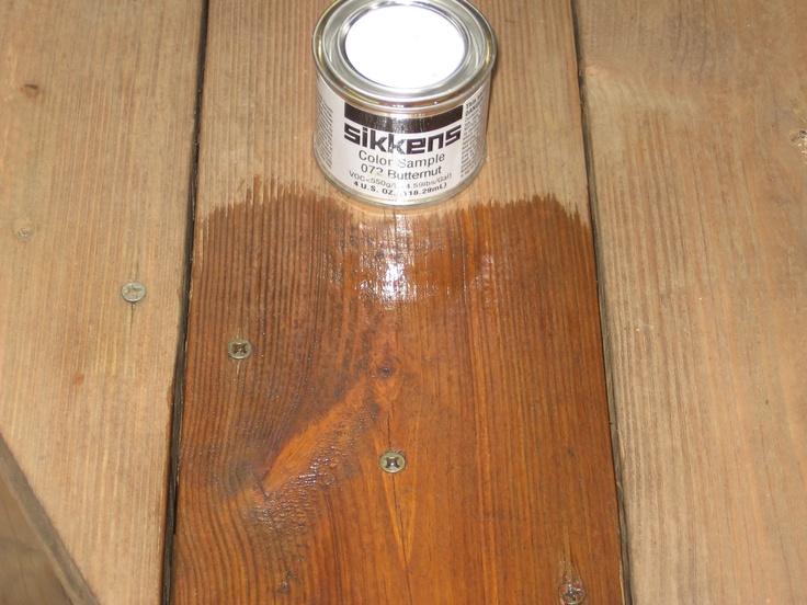 Applying Sikkens Butternut Color Varnish To A Deck