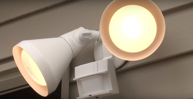 Install outdoor, motion-sensing flood lights to scare away anyone that may be trying to sneak in at night.
