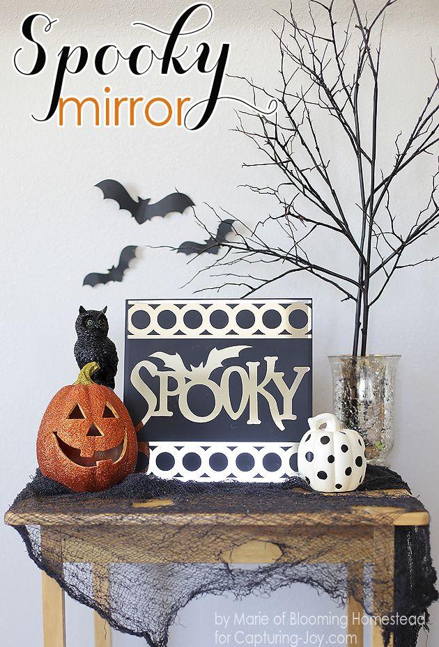halloween spooky mirror chic halloween decorhalloween - Chic Halloween Decor