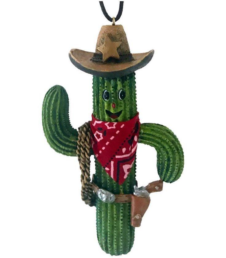 Southwestern Christmas Ornament- Smiling Saguaro Cowboy with Lasso