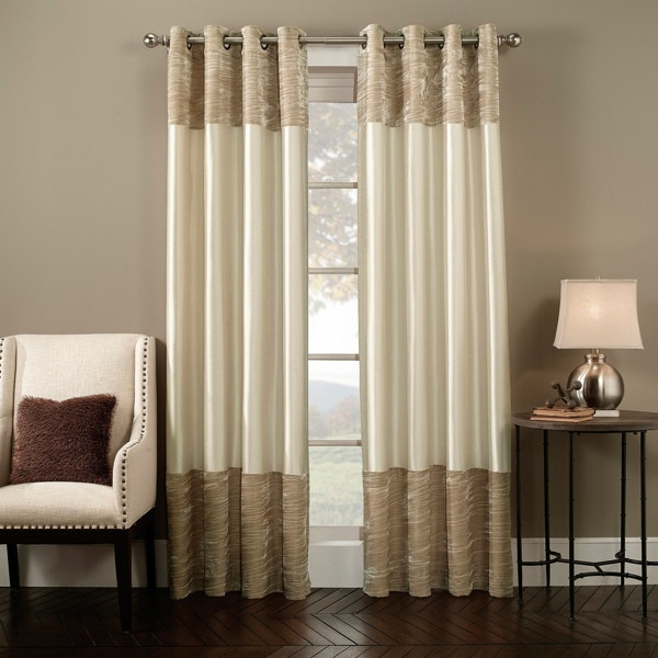 ivory curtains with white trim home pinterest