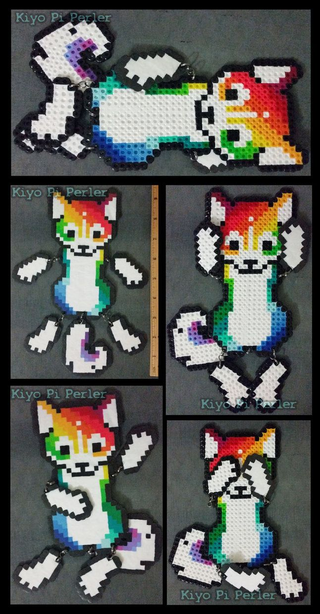 RAINBOW HUSKY! Ragdoll (Original Design) by KiyoAntifox on DeviantArt