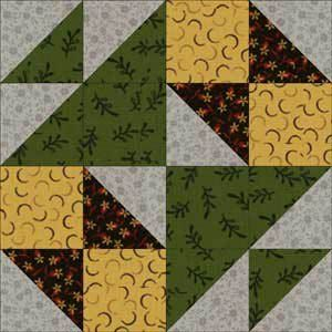 School Girl's Puzzle Quilt Block Pattern