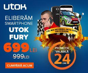 UTOK FURY doar 699 lei pentru 24h! Perioada de valabilitate: 19-20 mai 2015. Utok este magazin partener MyCashBack.ro prin care primiti si 2.5% cashback!