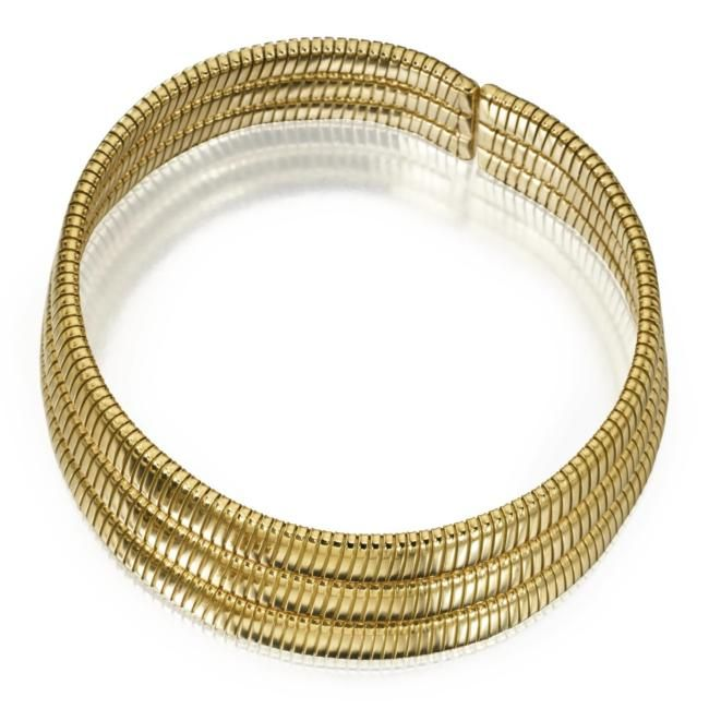18 KARAT GOLD CHOKER NECKLACE, TALLARICO, WEINGRILL, ITALY. Gross weight approximately 132 dwts., internal circumference 13 inches, signed Tallarico, Weingrill, Italy