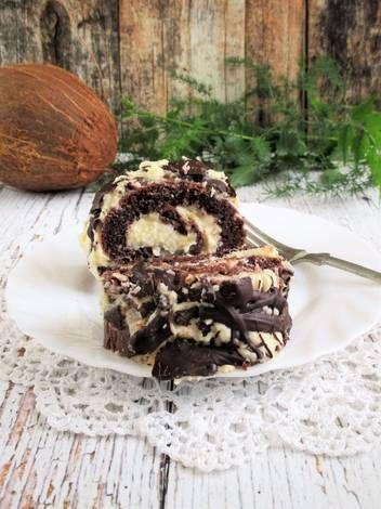 PaleoLét kókuszos csokoládés piskótarolád