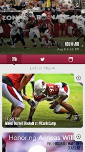 Welcome to the official mobile app of the Arizona Cardinals. Make your Android device a unique part of your Cardinals experience at any time, from any place.