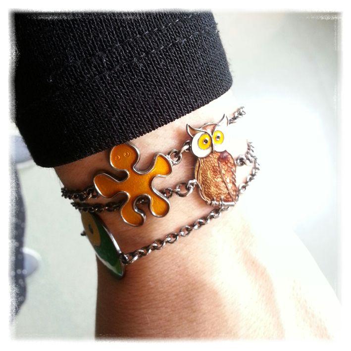 Cool new enamel bracelets