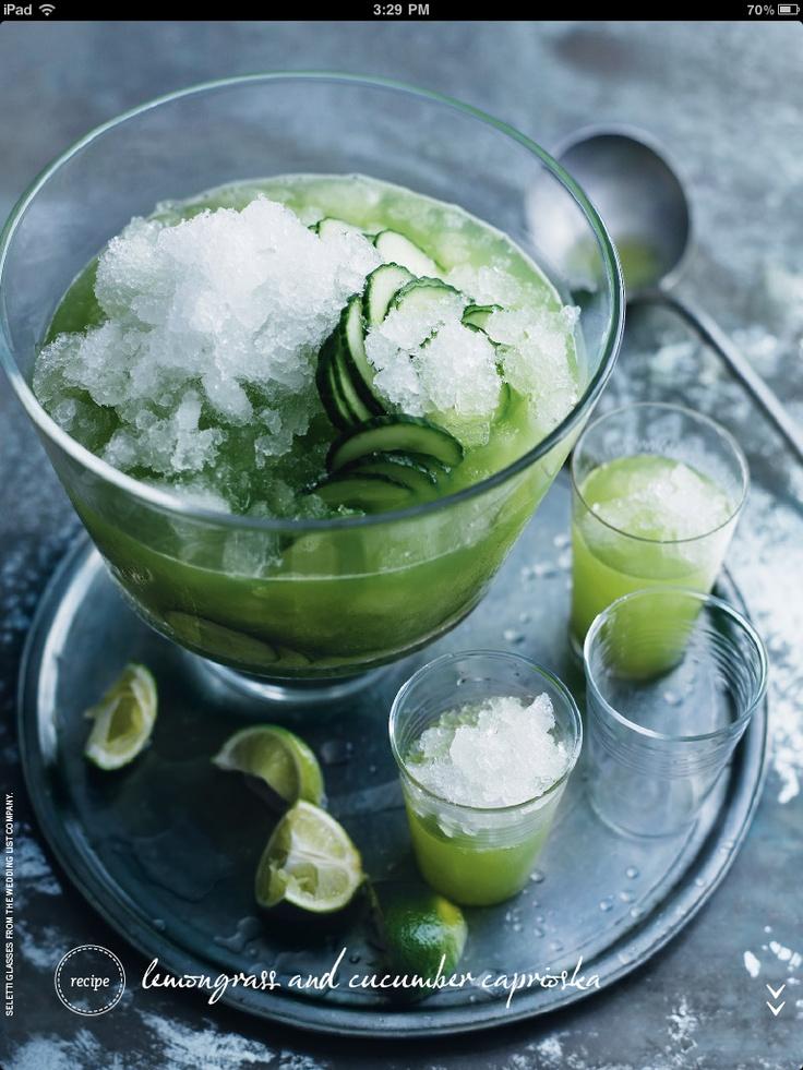 Lemongrass and cucumber caprioska #cocktail