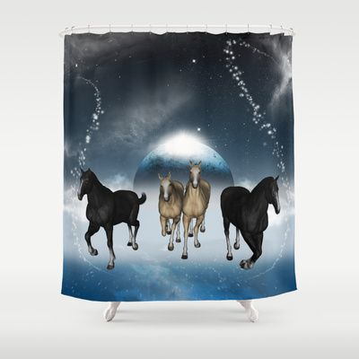 #Horses in the #universe #Shower #Curtain by nicky2342 - $68.00