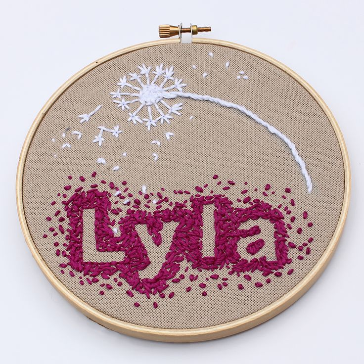 A sweet little modern embroidery project using negative space... great for beginners