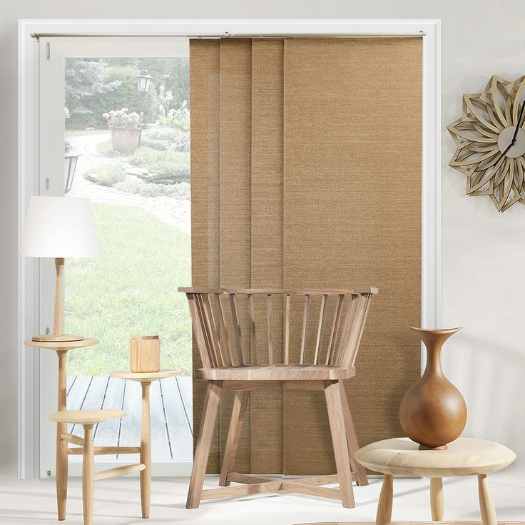 Best 25 sliding panel blinds ideas on pinterest sliding for Simple window treatments for large windows