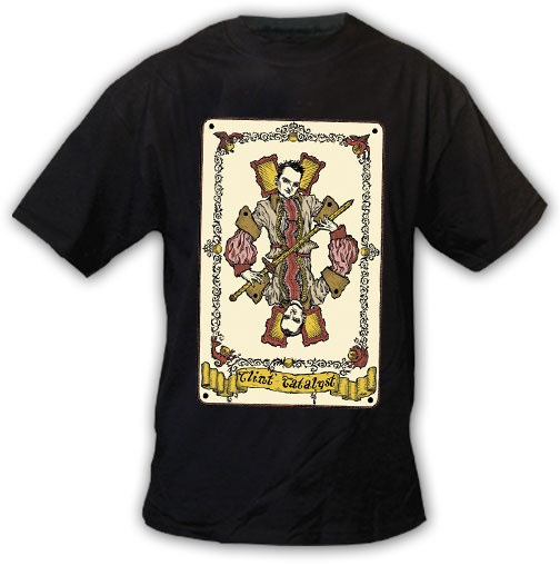 """""""Clint Catalyst Tarot Card Destroyer"""" T-shirt, Black Chandelier by Jared Gold #tarot #card #tarotcard #clothing #rare #collectible #clothing #tshirt #clintcatalyst #jaredgold #blackchandelier #illustration #occult #okkvlt #divination #fortunetelling #memorabilia #mysticism #esotericism: Clintcatalyst Jaredgold, Card Destroyer, Tarotcard Clothing, Black Chandelier, Card Tarotcard, Jaredgold Blackchandelier, Tarot Card, Blackchandelier Illustration, Tshirt Clintcatalyst"""