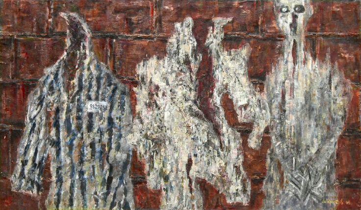 А. Крюков. Освенцим. 1965 х.,м. 118х203