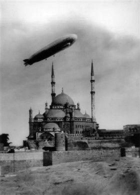 Zeppelin over Istanbul 1930's