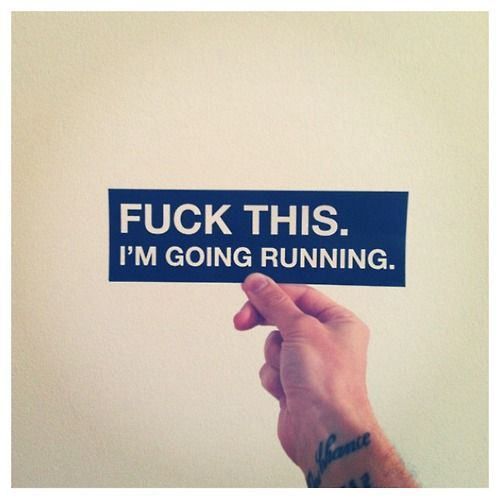 Peace out...I'm going running :-) #fitness #funny #gymhumor #running #exercise #workout