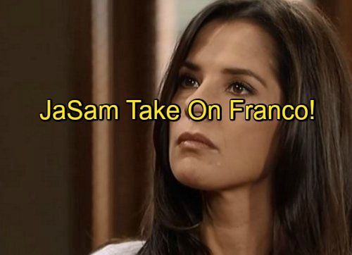 Upcoming General Hospital (GH) spoilers reveal that Sam Morgan (Kelly Monaco) and Franco (Roger Howarth) have a long-overdue confrontation in coming days and