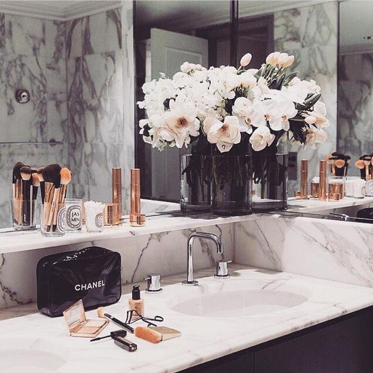 Bathroom #goals  Marble  rose gold   #shopmarsia