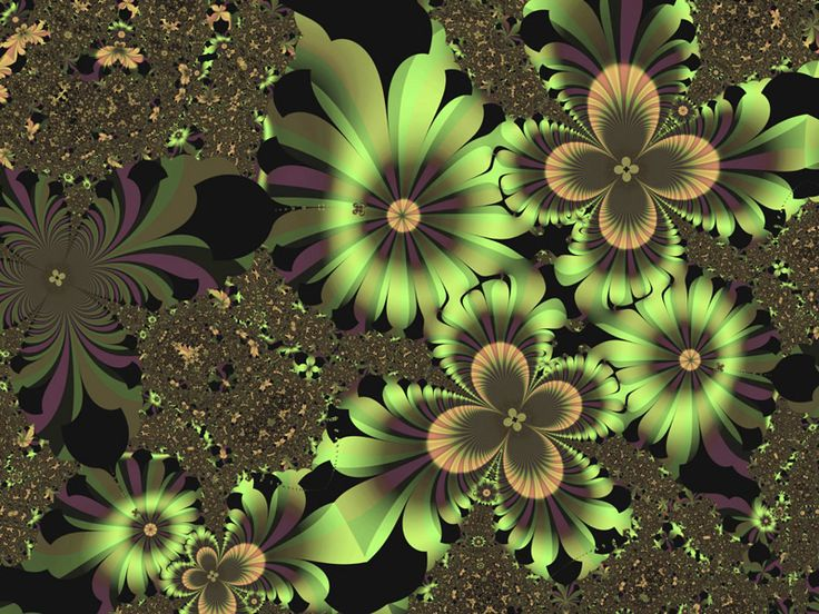 .: Fractals Flowers, Fractals Inspiration, Fractals Art, Flowers Digital, Pretty Flowers, Art Flowers, Flowers Fractals, Green Flowers, Flowers Wallpapers
