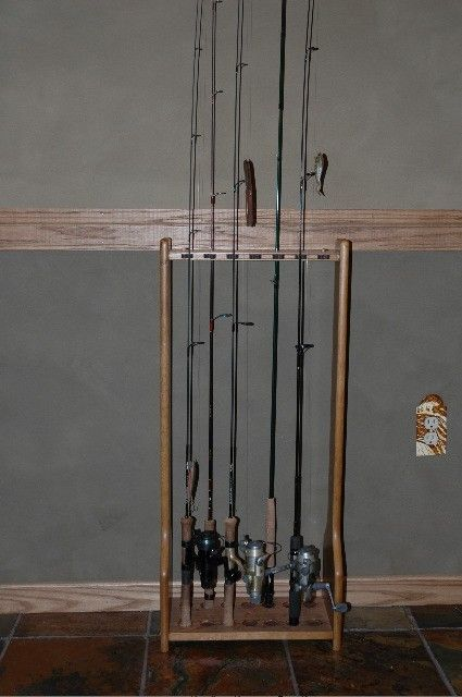 14 best images about fishing rod rack plans on pinterest for Fishing rod holders for home