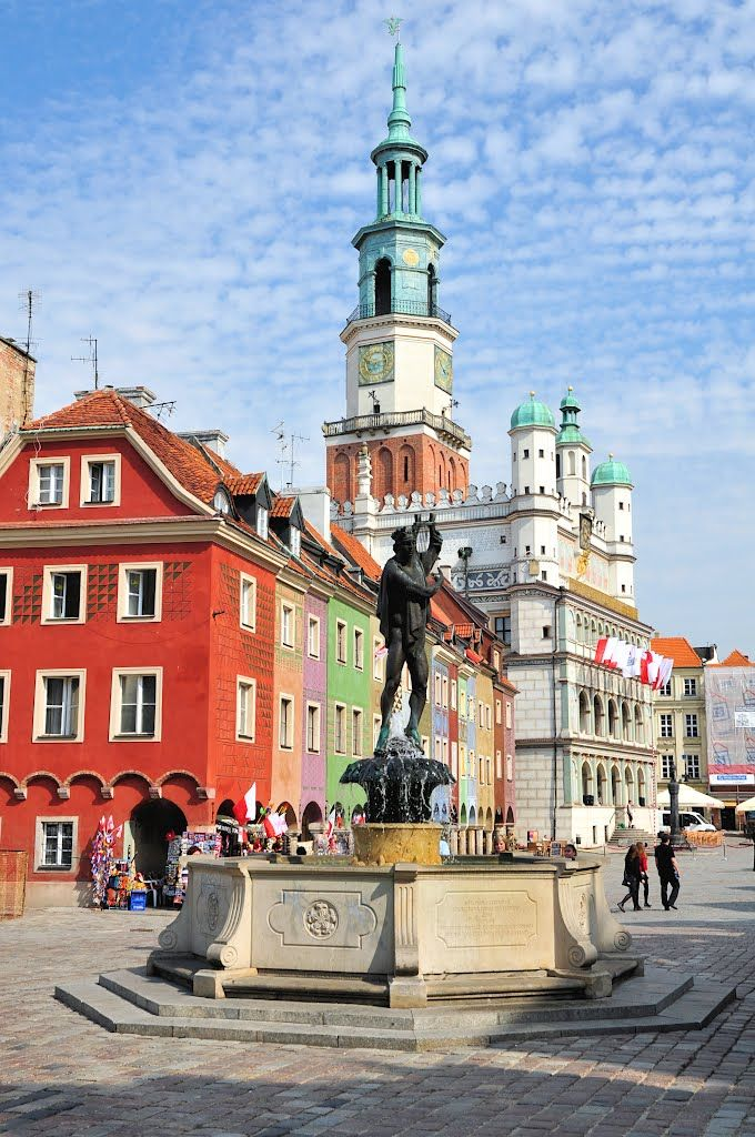 Main square in Poznań, Poland © majasa. ✈✈✈ Here is your chance to win a Free Roundtrip Ticket to anywhere in the world **GIVEAWAY** ✈✈✈ https://thedecisionmoment.com/free-roundtrip-tickets-giveaway/