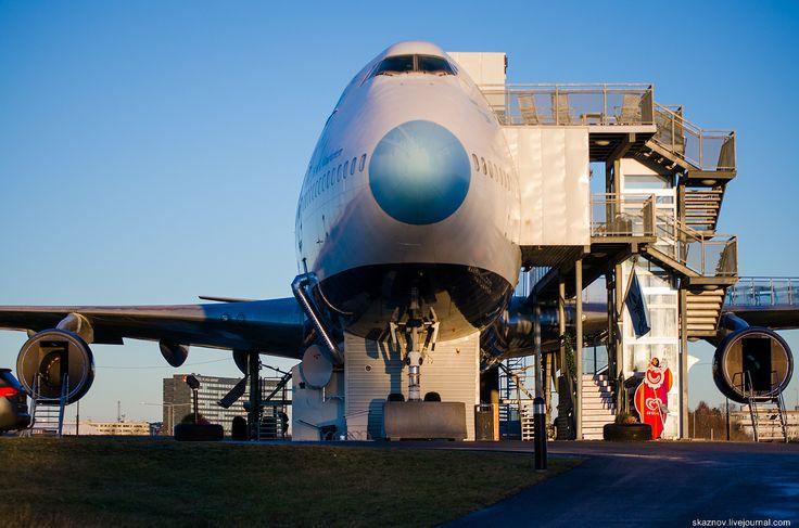 Отель   Самолет из Боинга 747 в Стокгольме