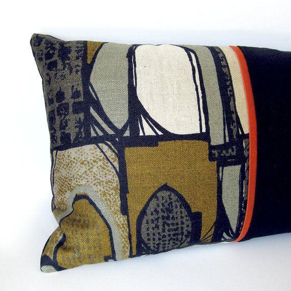 Mid Century Modern Pillows Etsy : Mid-Century Modern Designer Pillow Cover Eames Era Vintage Fabric in