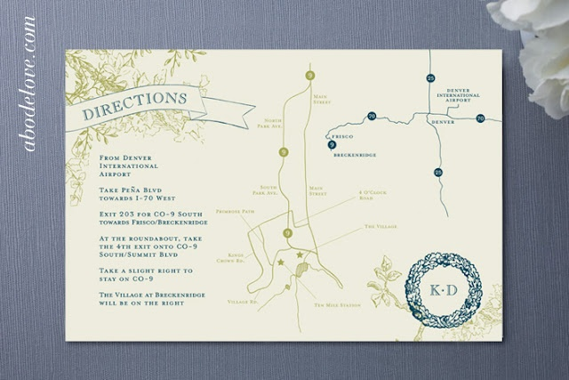 #wedding #invitation #map abodelove.com