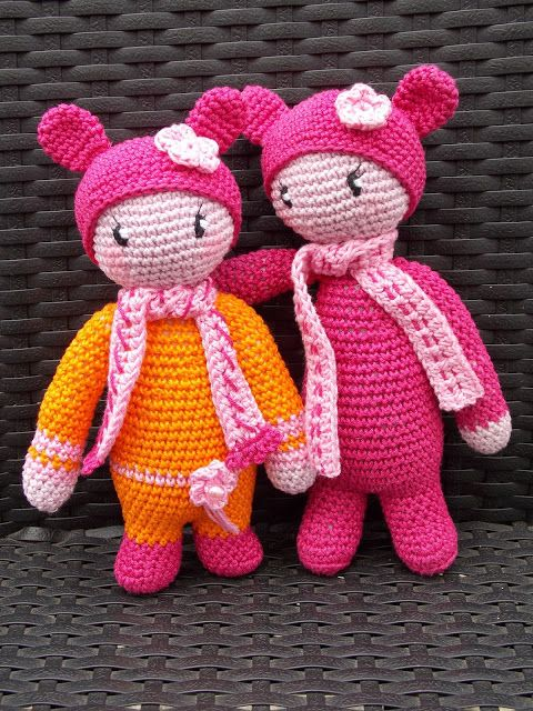 Poppetje à la Lalylala (met link naar gratis patroon) / little Lalylala look-a-like (with link to free pattern)